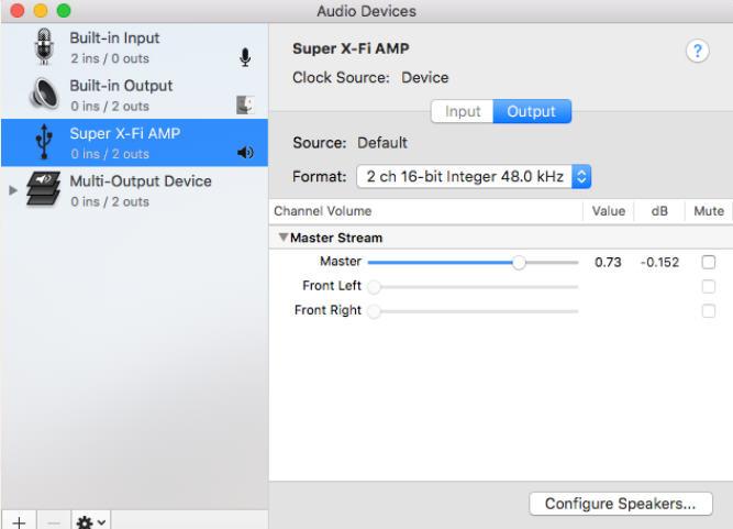 Support Creative Com - SXFI AMP: Desktop Setup