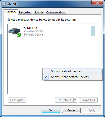 3f4c66e0aa3 show disabled playback and recording devices in sound settings of Windows 7