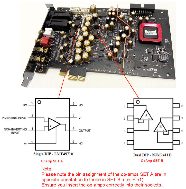 Support Creative Com - Replacing Op-Amps on Sound Blaster ZxR