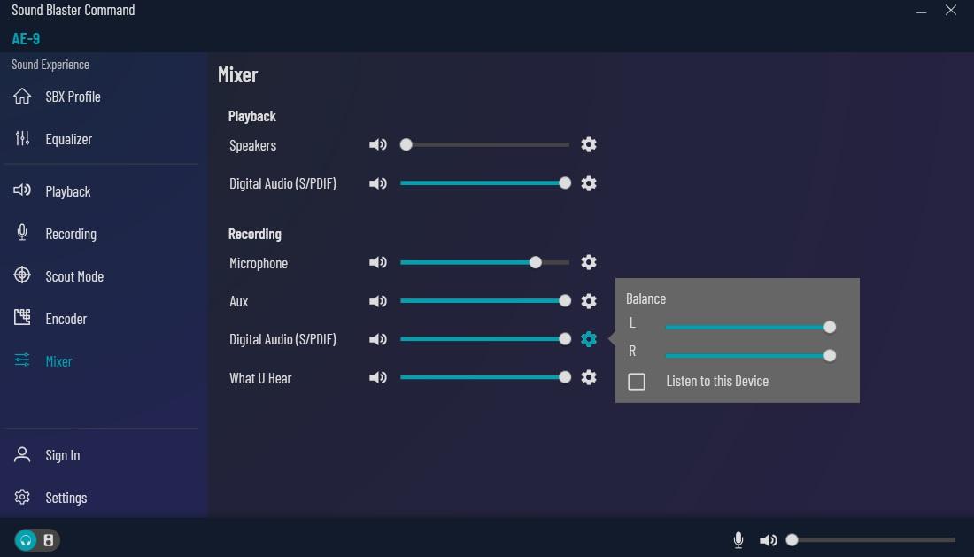 Support Creative Com - Sound Blaster AE-9: Sound Blaster Command