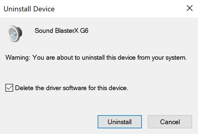 Support Creative Com - Sound BlasterX G6: Unable to Verify Digital