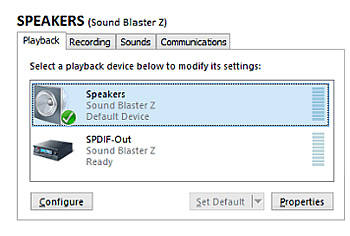 Support Creative Com - How to set up the Sound Blaster Z series to